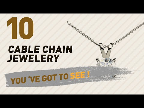 Cable Chain Jewelery Collection For Women // UK New & Popular 2017