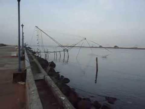 Chinese Fishing Net at Muziris Golden Beach, Munambam