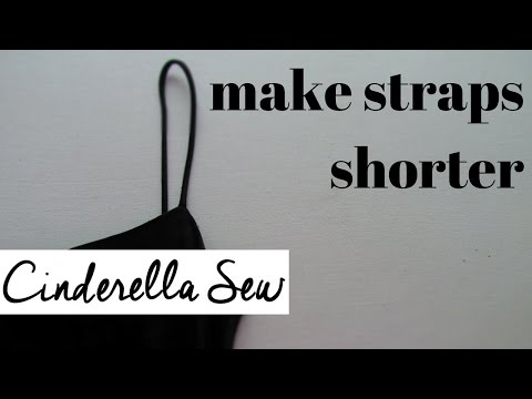 how-to-make-straps-shorter---shorten-straps-on-shirt-or-dress---easy-diy-clothing-alterations