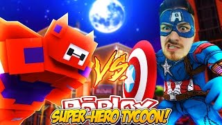 ROBLOX ADVENTURE - ROPO IS CAPTAIN AMERICA?? (SUPER HERO TYCOON)