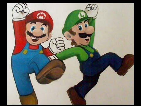 How To Draw Paint Mario And Luigi Super Mario Bros Youtube