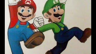 How to draw/paint MARIO and LUIGI - Super Mario Bros.