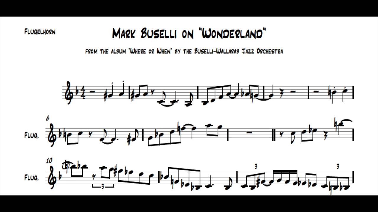 Mark Buselli Flugelhorn Solo Transcription