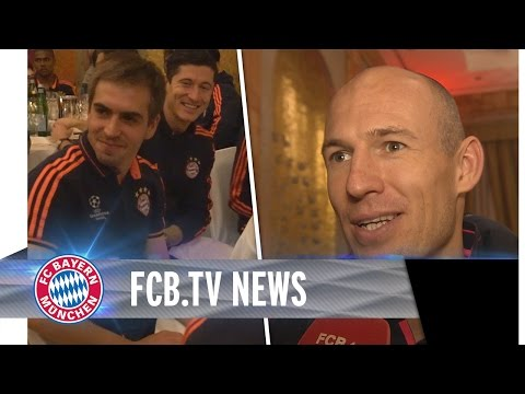 FC Bayern-Bankett in Turin und Lahms Jubiläum