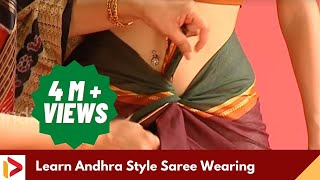 How to Wear A Saree - Andhra Style Saree Wearing Tutorial | India Video