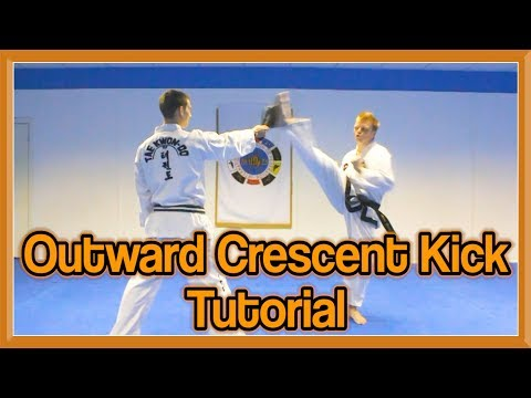Taekwondo Outward Crescent Kick Tutorial | GNT How to