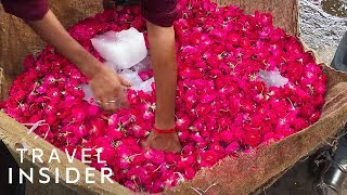 Walk Through India's Flower Markets