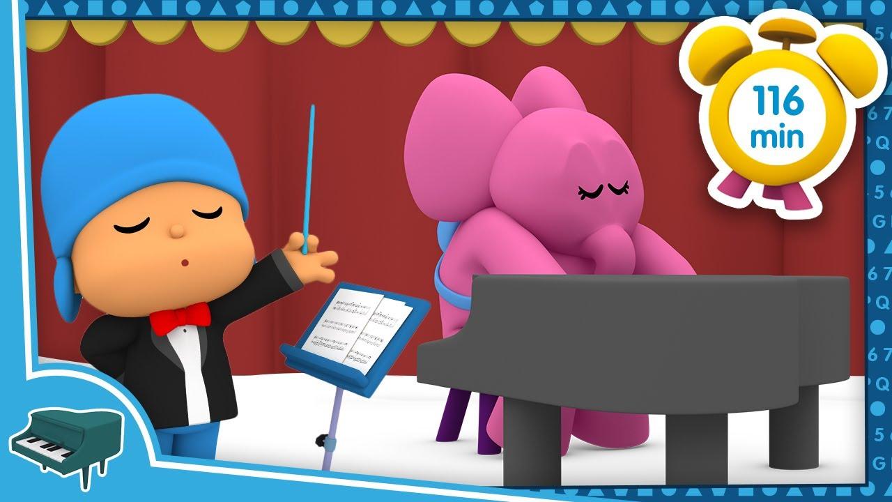🎹 POCOYÓ en ESPAÑOL - Aprende música [116 minutos] CARICATURAS y DIBUJOS ANIMADOS para niños