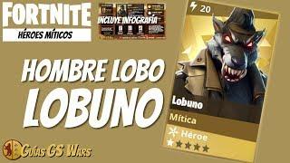 FORTNITE Ninja Mítico LOBUNO: Nueva clase Hombre Lobo, ¡¡¡Brutal!!!