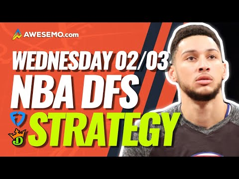 NBA DFS PICKS: DRAFTKINGS & FANDUEL DAILY FANTASY BASKETBALL STRATEGY | WEDNESDAY 2/3/21