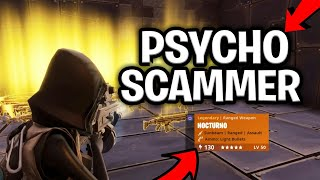 Dumb Psycho Kid Scams Himself! (Scammer Gets Scammed) Fortnite Save The World