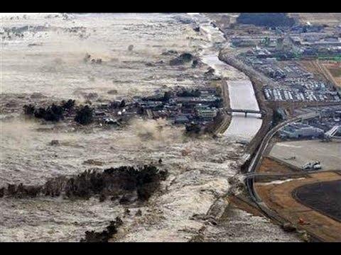 Best Japan Tsunami Compilation   Ocean Overtops Wall    Tsunami In Japan