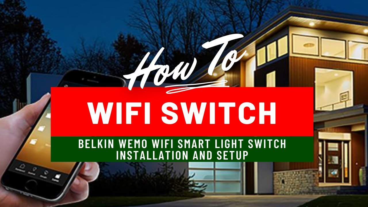Belkin WeMo Light Switch Installation  YouTube