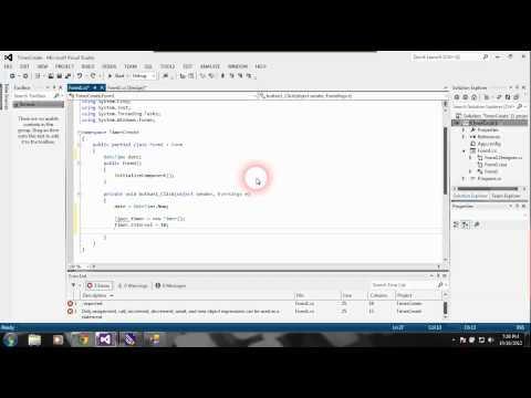 Простой секундомер C# программой