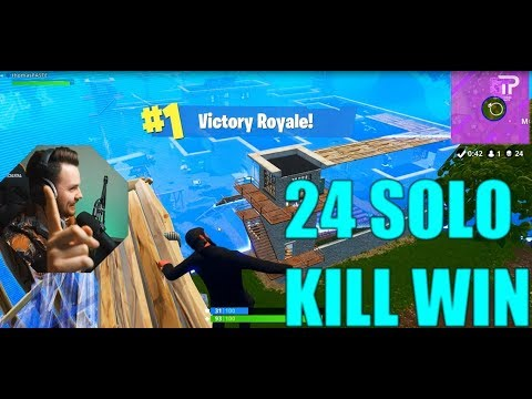 "24 SOLO KILL WIN! - Fortnite Battle Royal ""Thomas Paste"" ¤ Norsk Fortnite"