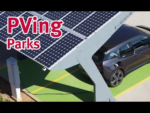 PVing PARKS. Solar canopy for electric vehicle charging systems