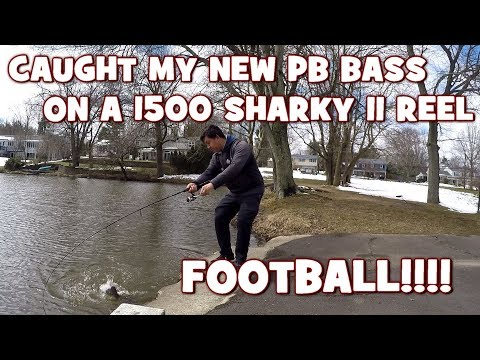 What a FOOTBALL!!! Caught my NEW PB LMB on an OLD 1500 REEL!!! (Give-Away Included) (Yardley, PA)