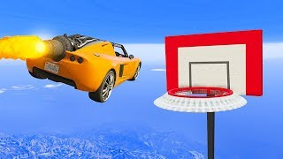 ROCKET CAR BASKETBALL GOAL CHALLENGE! - GTA 5 Funny Moments