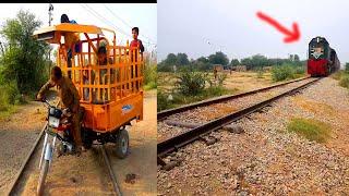 Railway Track Crossing    PLEASE Do not Cross Train Track line when Train Run on Track