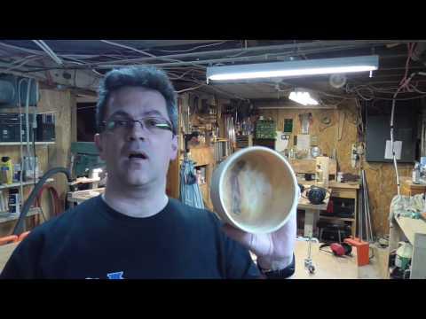 Tournage d'un petit  bol en bois vert