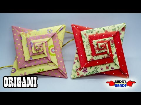 How to make easy ORIGAMI STAR MOBIL(종이접기 모빌)