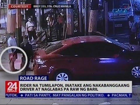 Rider na tumilapon, inatake ang nakabanggaang driver at naglabas pa raw ng baril