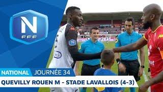 J34 : Quevilly Rouen Métropole - Stade Lavallois (4-3), le résumé I National FFF 2018-2019