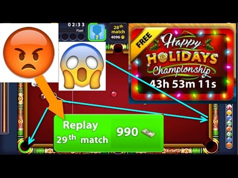 8 Ball Pool - Crazy 29 Match On Happy Holiday Championship - WTF? 990 Cash 4 Next Round