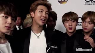 BTS (방탄소년단) Interview After Winning Top Social Artist At The 2017 Billboard Music Awards!