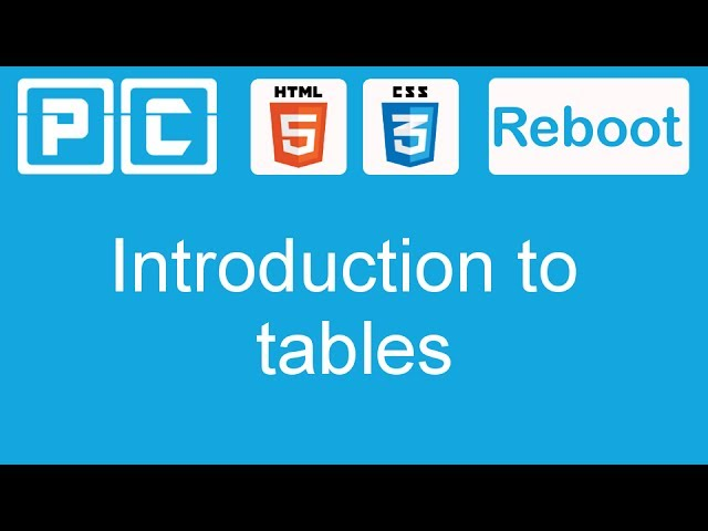 HTML5 and CSS3 beginners tutorial 41 - introduction to tables