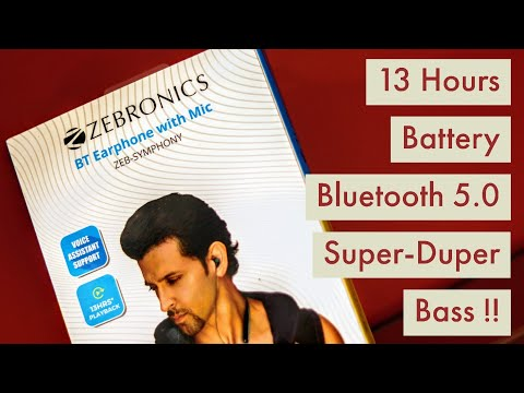 Zebronics Zeb Symphony Bluetooth Neckband Earphone Unboxing & Review