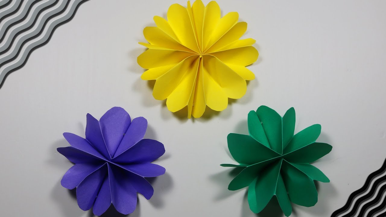 Diy Wall Decor With Paper Flowers | Popular Craft | Diy Paper ...