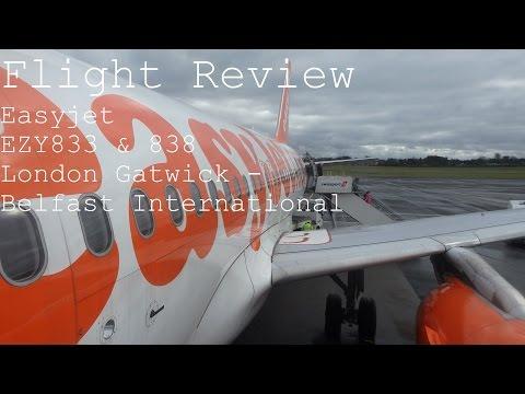 Flight Review: Easyjet | EZY833/EZY838 | A319/20 | London Gatwick - Belfast International (Return)