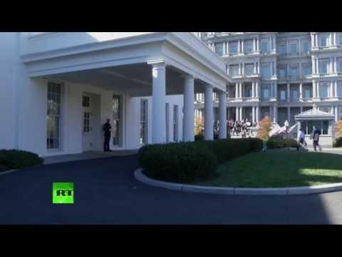Donald Trump arrive à la Maison Blanche pour rencontrer Barack Obama (Direct du 10.11)