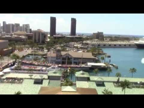 Map of Honolulu and Looking over Cruise Ship