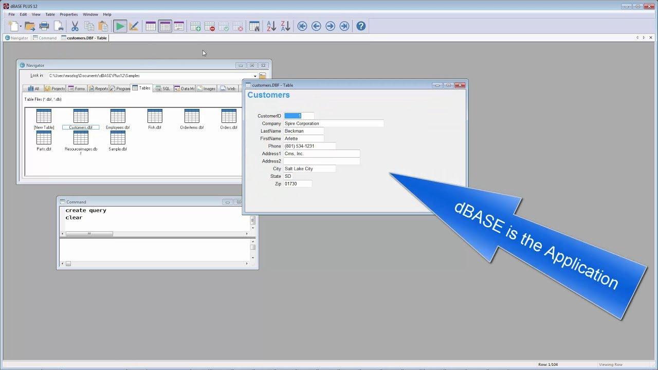 dBASE™ PLUS 12 – Data No Code Application
