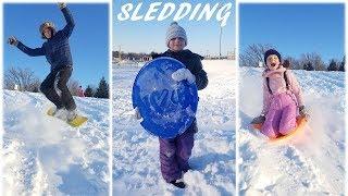 SLEDDING!!!! - Savchenko family