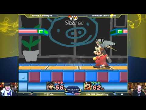 TBH4 - ZeRo (Pit) vs Mew2King (Mario, Fox) - Project M Losers Finals - Smash PM