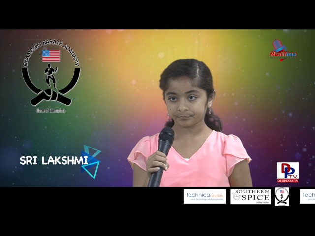 "Sri Lakshmi speaking about ""Good manners"" in Talking Bee - Public Speaking competitions 2016"