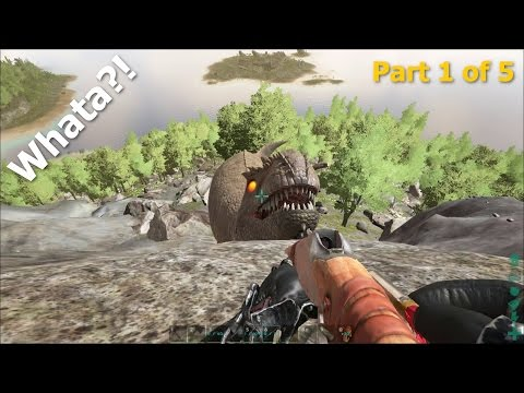 ARK Survival Evolved - Small Dragon 2nd Attempt - Whata?! - Part 1 of 5