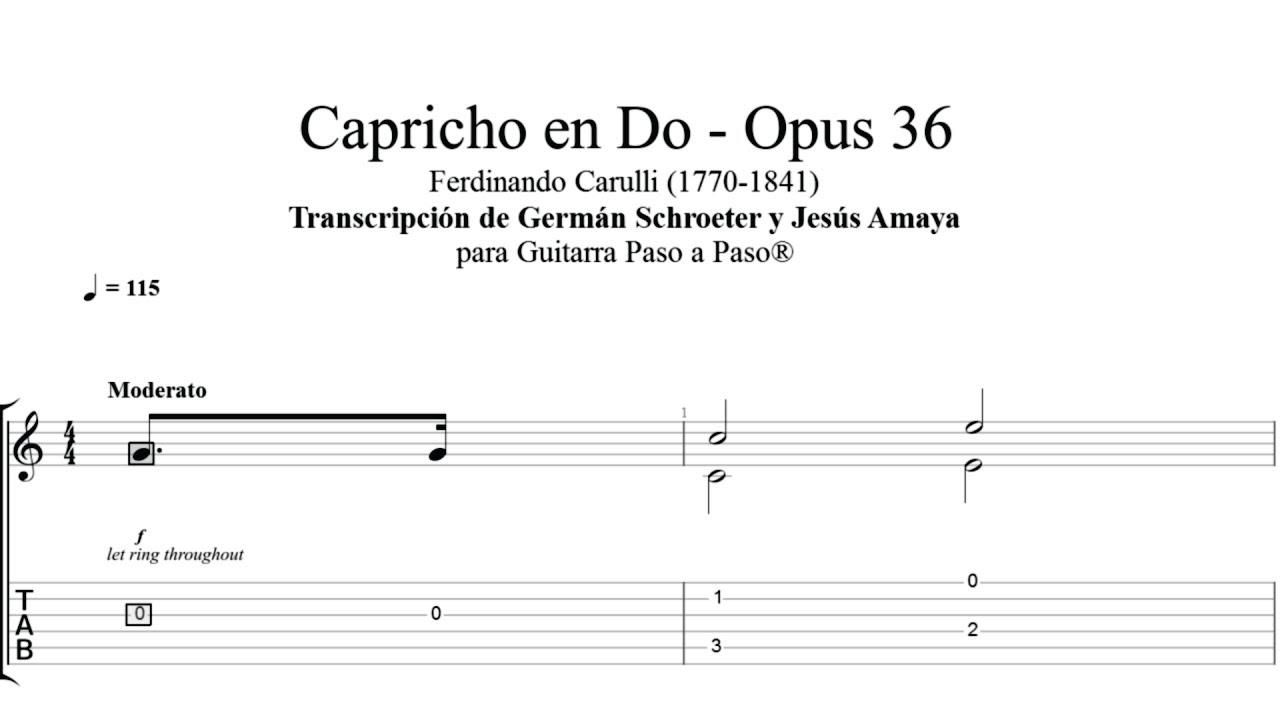 Capricho en Do - Ferdinando Carulli -Tablatura por Jesús Amaya...