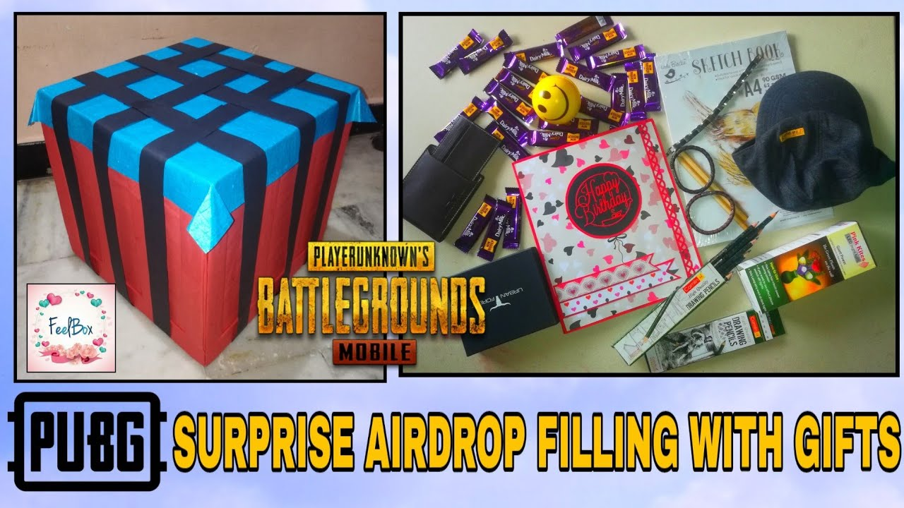 Pubg Surprise Airdrop Filling With Gifts Best Gift For Pubg Lover Gift For Pubg Fans By Feelbox