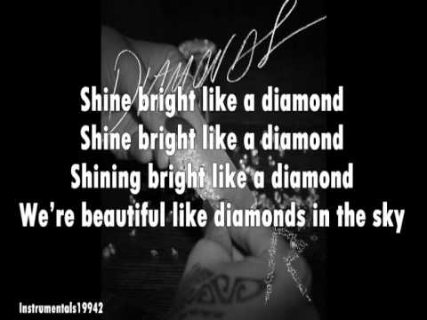 Rihanna Diamonds lyrics - YouTube