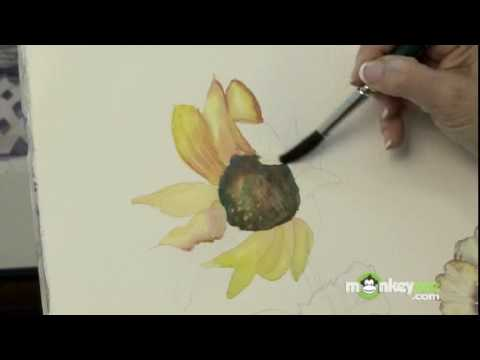 How to paint flowers with watercolors youtube for Video tutorial on watercolor painting