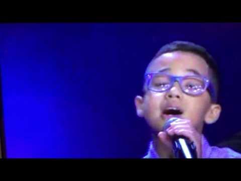 Angelic And Jonael Santiago Singing El Perdon By Nicky Jam And Enrique Iglesia On Siempre Ninos