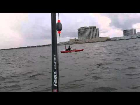 Kayak Fishing Trout, Sharks. Deer Island