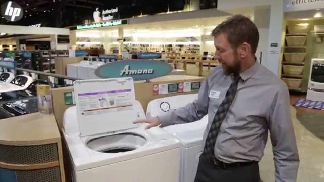 amana washer how to use