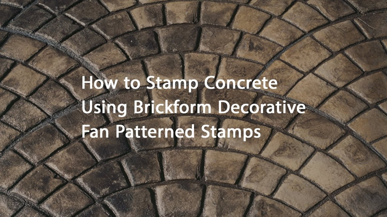 How To Stamp Concrete Using Brickform Decorative Fan Patterns