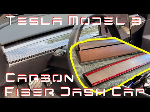 Tesla Model 3 - Carbon Fiber Dash Cap