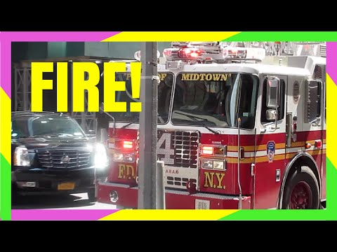 NEW YORK CITY TIMES SQUARE FIRE!